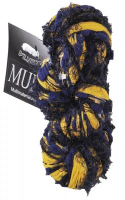 Materialmix-Strickgarn MULTI by VLNIKA 100g #07 blau-gelb