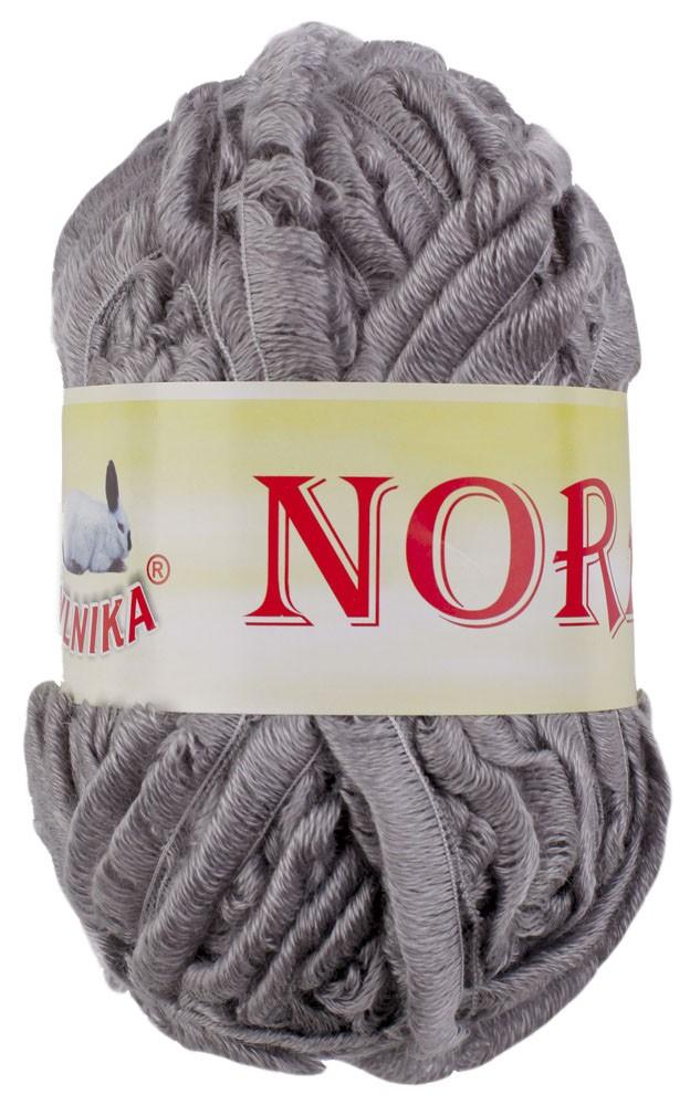 Effekt Volant Strickgarn / Strickwolle NORA by VLNIKA #21 grau – Bild 1