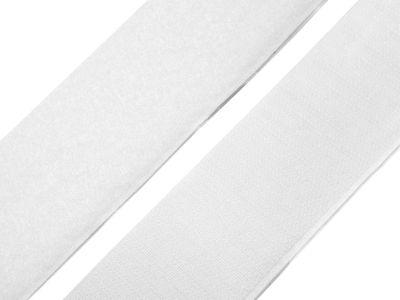 Klettband selbstklebend 50 mm - weiß Meterware Hakenband + Flauschband