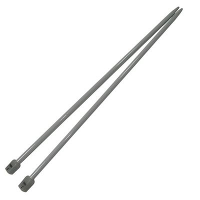 1 Paar Aluminium-Stricknadeln Stärke 7mm gerade 35cm Aluminium-Legierung robust Metall