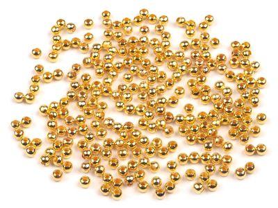 10g Metallperlen goldfarben, 3mm rund, ca. 150 Perlen