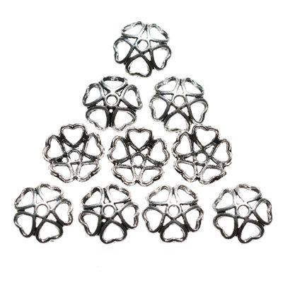 """10 Perlkappe, Zierperle, """"Herzen"""", Dụrchmesser 10mm"""