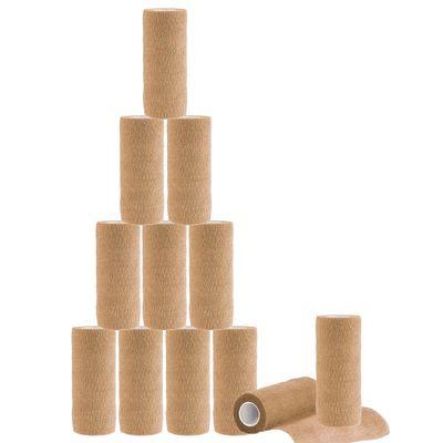 12 Haftbandagen / Selbsthaftende Bandagen Veterinärqualität 15cm x 4,5m beige / skin