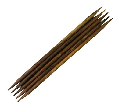 HANDSCHMEICHLER! Nadelspiel aus wunderschönem Robleswood, 20cm lang, 6mm