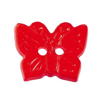 10 Kinderknöpfe Schmetterling, 16 x 13 mm, rot