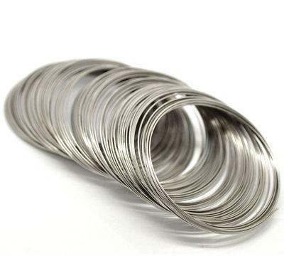 Memory Draht für Armbänder, 65 mm, 0,8 mm, silbern, 200 Umrundungen!! – Bild 1