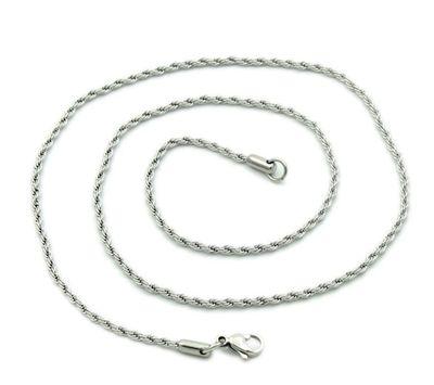 Schöne Edelstahlkette gedreht Stärke 2mm Länge 50cm Kette Halskette Schmuckkette – Bild 1