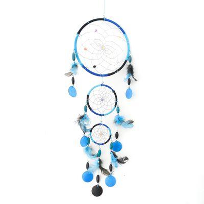 Dreamcatcher Traumfänger TRAUMZAUBER ca. 18 x 48 cm türkis-blau-schwarz Indianer