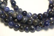 Hochwertige blaue bis blaugraue Sodalith Perle, 6 mm (1 Perle) 001