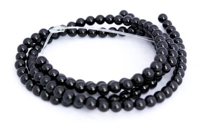 67 Top - Grade! Onyx Perlen auf Strang, 6 mm