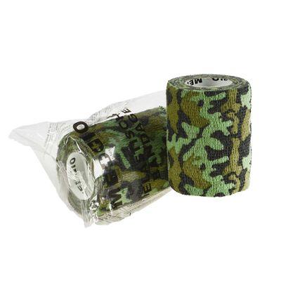 12 Haftbandagen / Selbsthaftende Bandagen 7,5 cm x 4,5 m camouflage grün