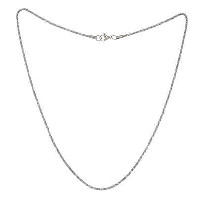 Edelstahl Halskette silbern ca. 52cm Edelstahlkette Schlagenkette Damenkette – Bild 1