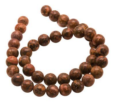 Hochwertige Leopardskin Rhyolith Perlen auf Strang, 10 mm (38 Perlen)