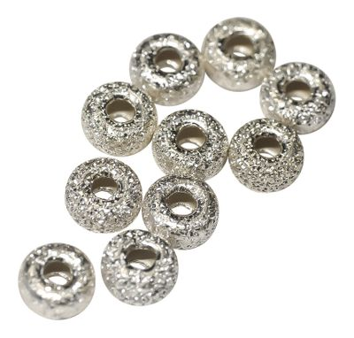1 Edle Lazer Rondel Perle Sterling Silber 4 mm