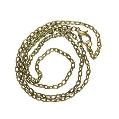 Gliederkette / Halskette 61cm lang, bronzefarben