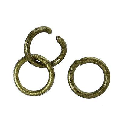 100 Verbindungsringe, Biegeringe, Binderinge 5 mm antikbronze – Bild 1