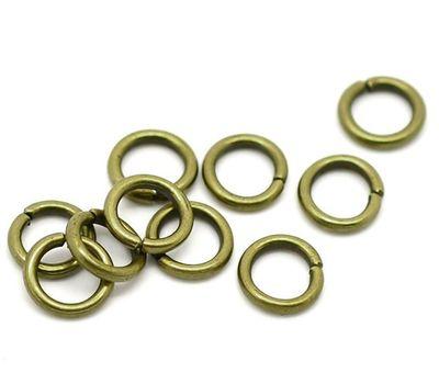 50 Verbindungsringe, Biegeringe, Binderinge 7 mm bronze – Bild 1