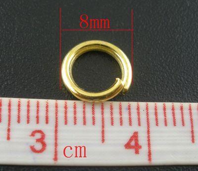 20 stabile Verbindungsringe, Biegeringe, Binderinge 8 mm gold – Bild 2