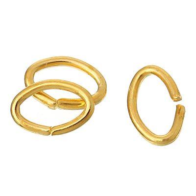 100 Verbindungsringe, Biegeringe, Binderinge 5x4 mm gold – Bild 1