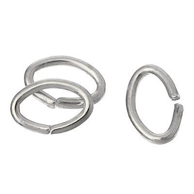 100 Verbindungsringe, Biegeringe, Binderinge 5,5x4 mm silbern – Bild 1