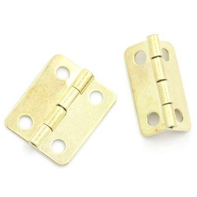 Scharnier für Boxen, Schatullen, Kästchen 1,6 x 1,3 cm, gold (4 Stück) – Bild 1