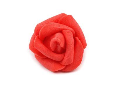 10 x Deko Rose / Rosenblüte / Rosenkopf 3cm #9 koralle