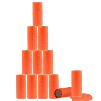 12 Haftbandagen / Selbsthaftende Bandagen Veterinärqualität 15cm x 4,5m, orange