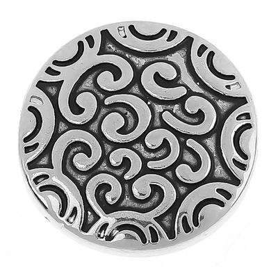 """Wechsel - Chunks / Click Buttons """"Air"""" - antiksilber (1 Stück), Knauf ca. 5,5mm – Bild 1"""
