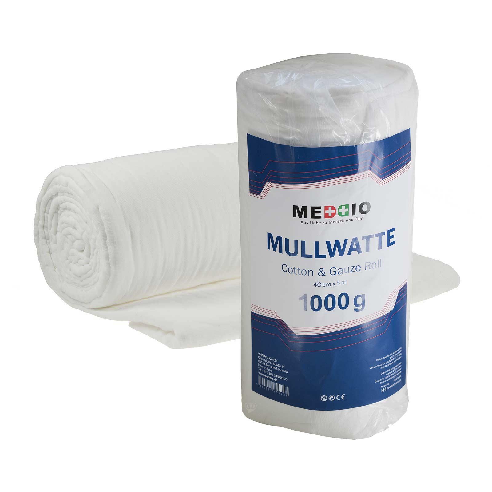 2 Rollen Bandagierwatte Verbandwatte Mullumschlag Mullwatterolle 40cm x 5m – Bild 1