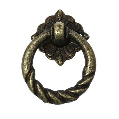1 Ringgriff für Schatullen und mehr, 5 x 2,9cm, antikmessing  – Bild 1