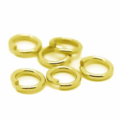 200 vergoldete Biegeringe / Verbinderinge, 8 mm – Bild 1