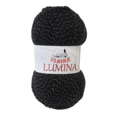 Glitzer - Garn LUMINA, 100g, #703 schwarz-kupfer – Bild 1