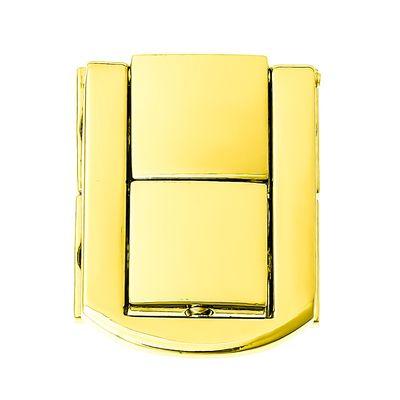 1 Schloss für Boxen uvm., 31 x 24mm, vergoldet – Bild 1