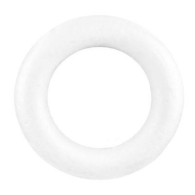 1 Styropor Ring Durchmesser 20cm Vollform weiß