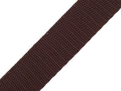 1 Meter Gurtband, 30mm, dunkelbraun