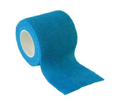 1 Haftbandage Selbsthaftende Bandage / Fixierbinde 5cm x 4,5m, mittelblau