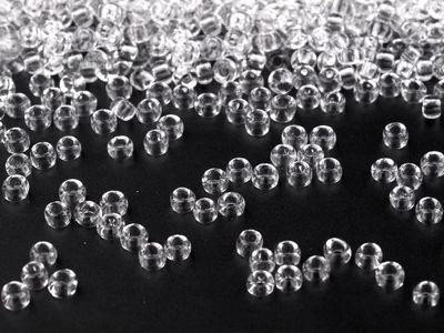20g Rocailles Glasperlen 11/0 2mm, transparent TSCHECHISCHE HERSTELLUNG