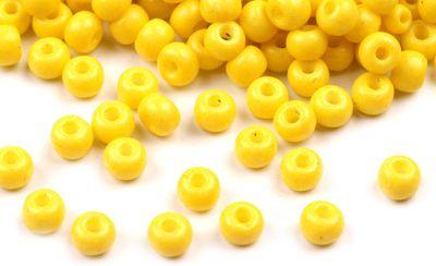 Rocailles Glasperlen 4 mm, Durchzug 1 mm (20g) gelb TSCHECHISCHE HERSTELLUNG