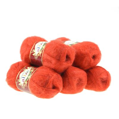 5 x 50g Strickgarn ALIZE KID ROYAL #352 rot – Bild 1
