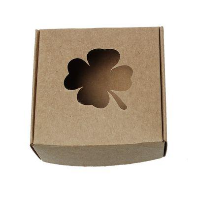 10 Geschenkschachteln Kleeblatt 7,5 x 7,5 x 3 cm