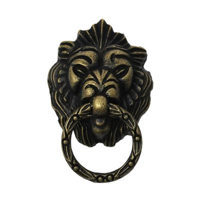 1 Ringgriff Schubladengriff Lion 71x43mm antikmessing