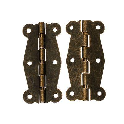 10 Scharniere 51x24mm Bandscharnier bronze Vintage Schmetterling Schublade Schrank Möbel