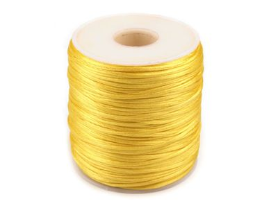100m Spule Satinschnur 1mm cyber yellow #143