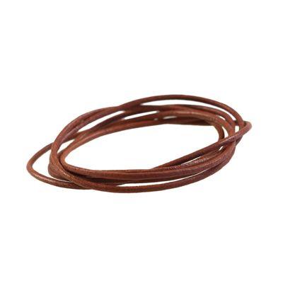 1 m Lederband rund, ø 2 mm - Lederschnur Rind, freie Farbwahl – Bild 13