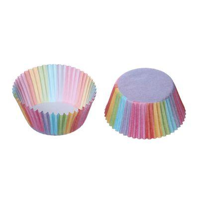 100 Regenbogen Muffinförmchen, Papier, 70x32mm – Bild 1