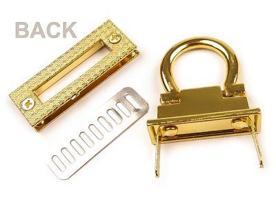 1 Schloss für Taschen, Drehverschluss, 17x45mm, gold – Bild 3