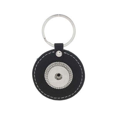 3 Chunk Träger Schlüsselanhänger Leder Click Button Druckknöpfe Schlüsselring