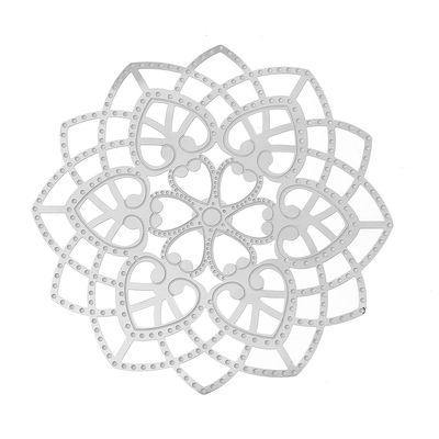 "1 Edelstahl Anhänger ""Floral"", 62x62mm"