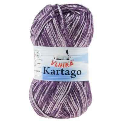 Strickgarn / Häkelgarn KARTAGO, #09 aubergine