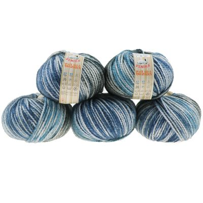 5 x 100g Strickgarn TULISA, Nr. 04 Deep Sea